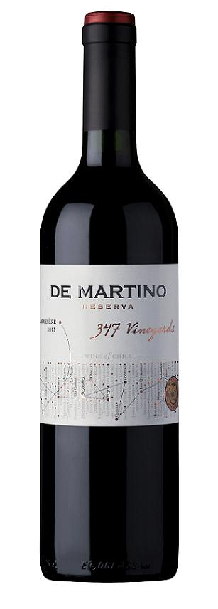 DE MARTINO 347 VINEYARDS RESERVA CARMENERE 750 ML.