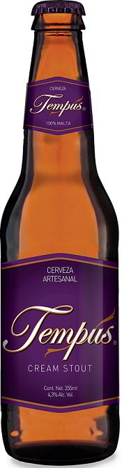 CERVEZA TEMPUS CREAM STUOT 355 ML.